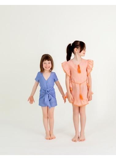Pinolini Ponponlu Deniz Elbisesi Renkli